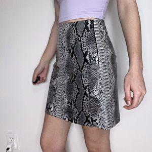 Dynamite Faux Snake Skin Skirt